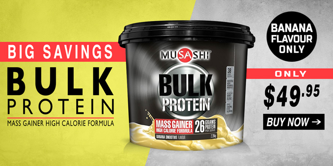 Musashi Bulk Mass Gainer lowest Prices