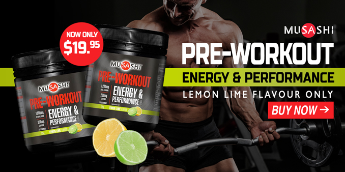 Musashi Pre-Workout Lemon Lime lowest prices
