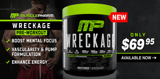 NEW Muscle Pharm WRECKAGE Pre-Workout Available Now