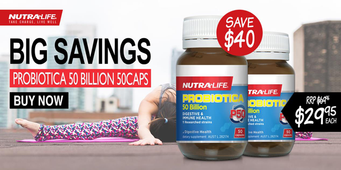 Nutra-Life Probiotic 50 Billion Caps on sale
