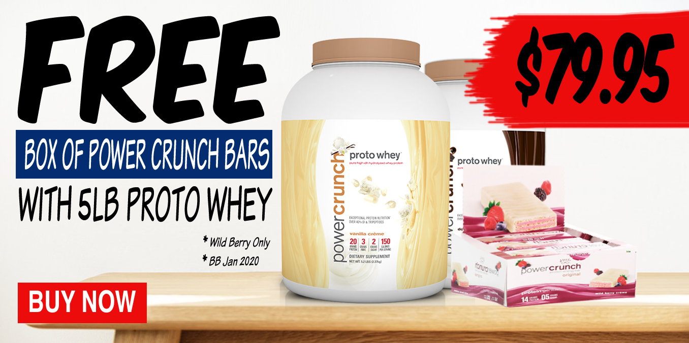 Free Power Crunch Bars with Proto Whey