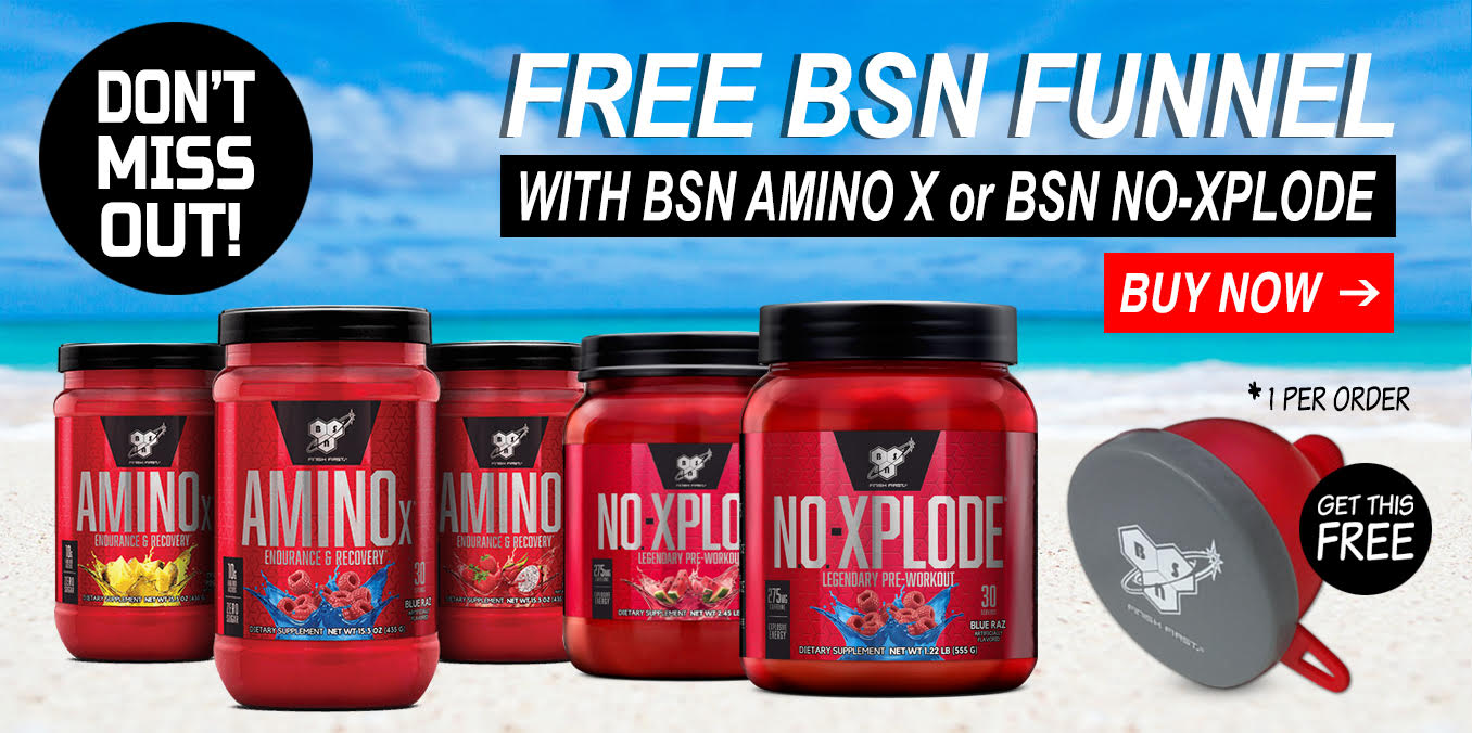 Free Funnel with BSN Amino X and NO-Xplode