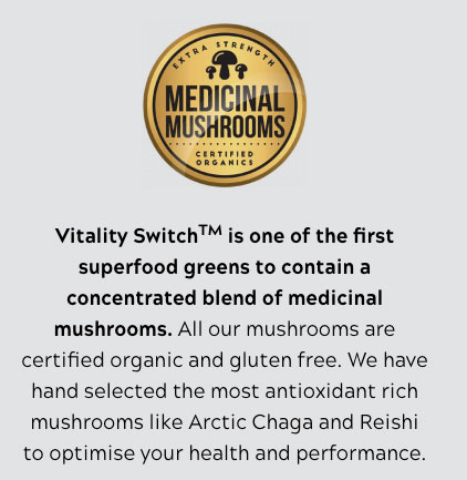 Vitality Switch Medicinal Mushrooms