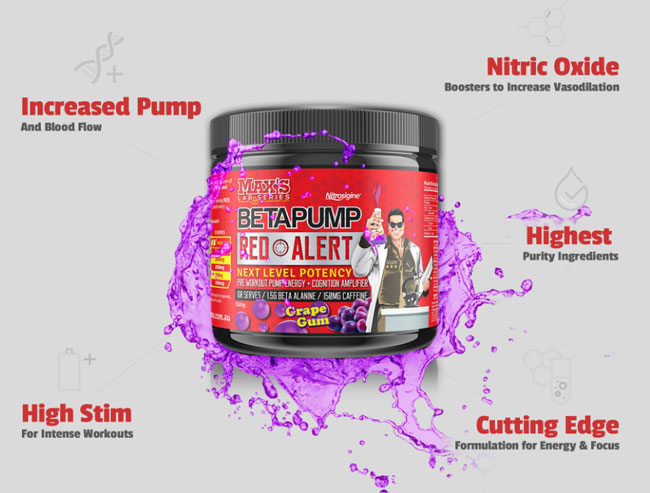 maxs beta pump pre-workout product details