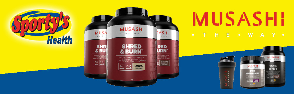 Shred and Burn Protein Powder Banner