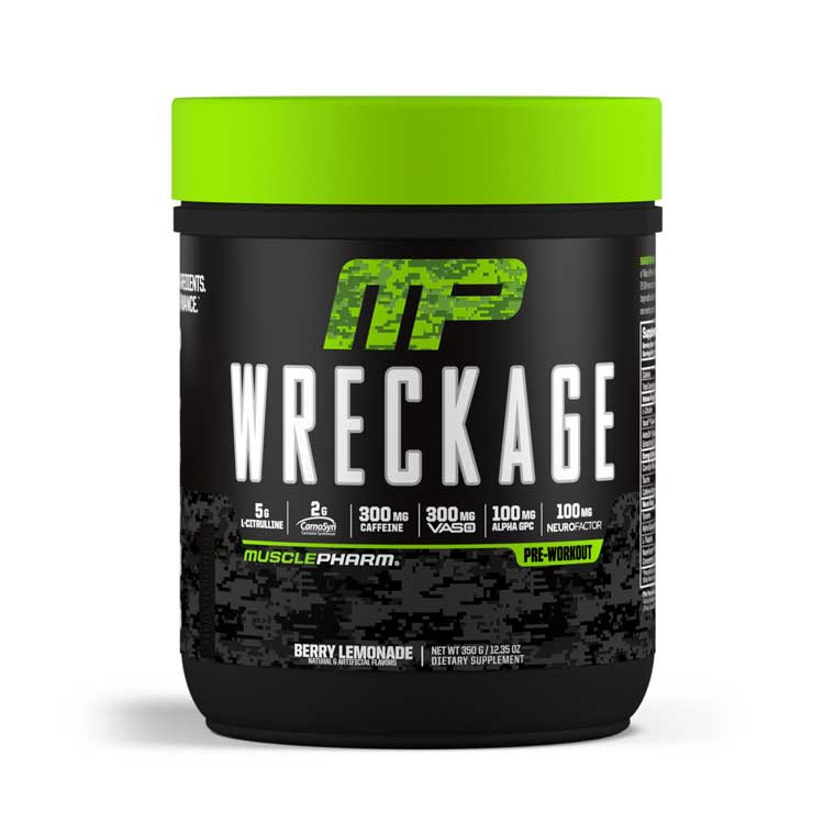 muscle pharm wreckage pre workout image