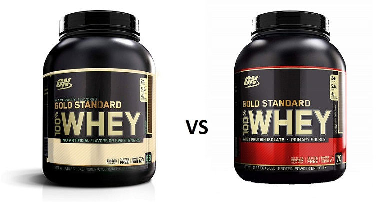 Gold Standard Natural 100% Whey vs Gold Standard 100% Whey