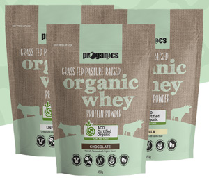 3 bags of organic whey protein