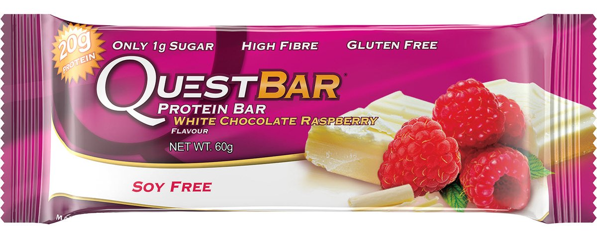 quest bar white chocolate raspberry