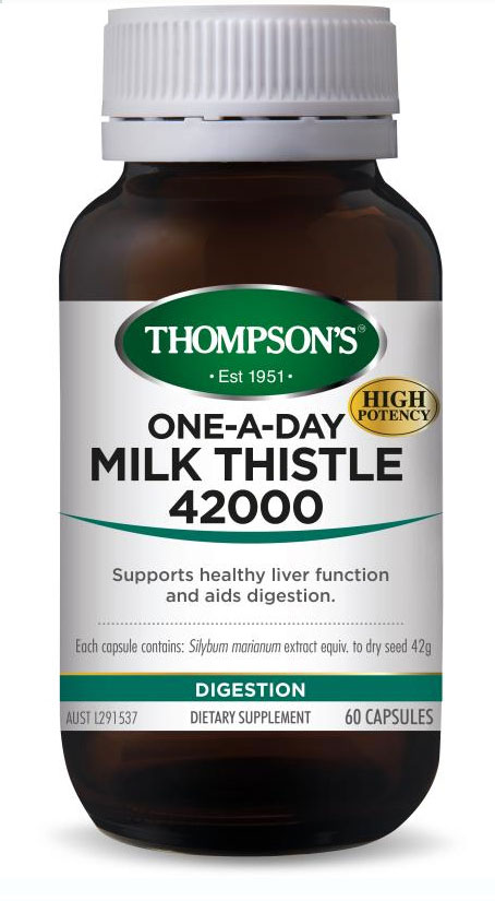 Thompsons Milk Thistle in a Glass Bottle