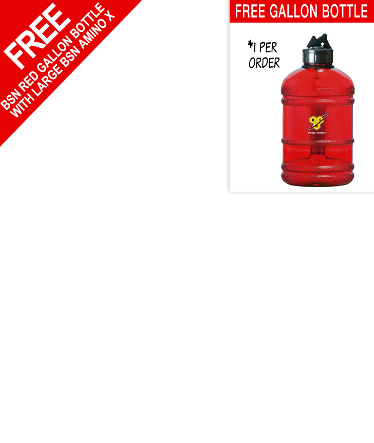 Free BSN Gallon Bottle with Amino X