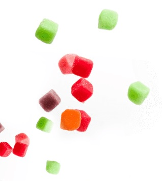 green and red coloured candies