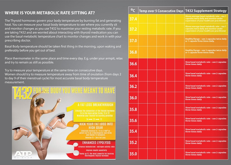 t432 metabolic rate chart