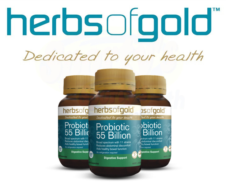 herbs of gold probiotic banner