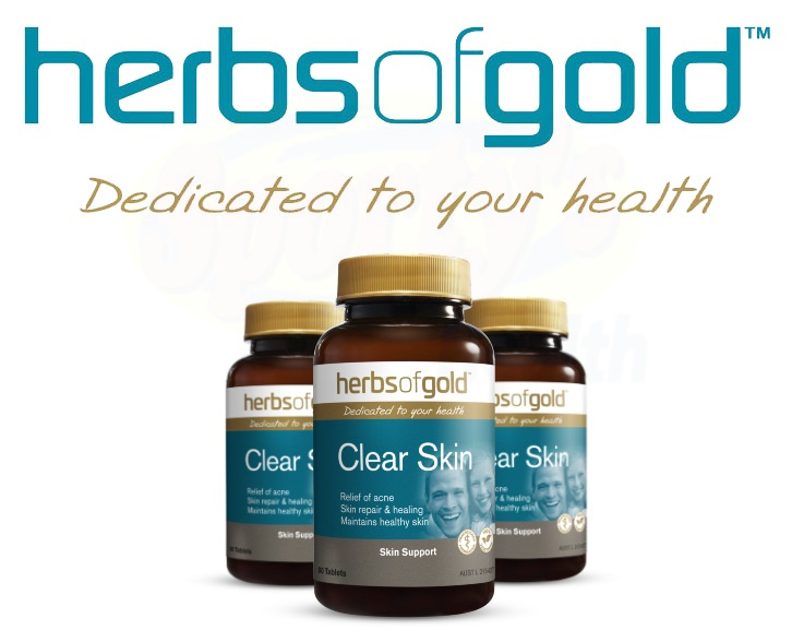 herbs of gold clear skin banner
