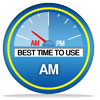 best time to use is a.m.