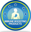 "Icon with words ""Immune Boosting Properties"""