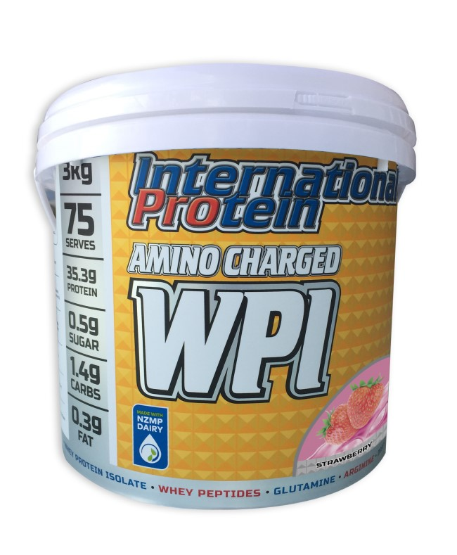 International Protein Amino Charged WPI Strawberry Tub