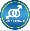 male and female friendly