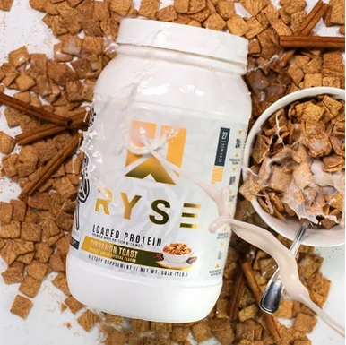 ryse loaded protein cinnamin flavour