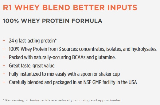 whey blend label